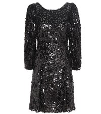 Dolce And Gabbana Sequinned Dress Black