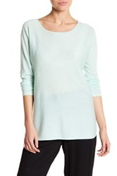 Eileen Fisher Ballet Neck Cashmere Tunic Sweater Green