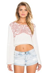 Minkpink Wild Hearts Top White