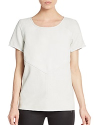Maison Scotch Perforated Paneled Leather Top Natural
