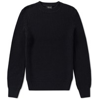 A.P.C. Travel Crew Knit Blue