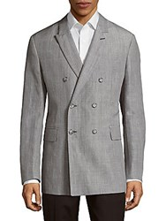 Faconnable Check Notch Lapel Jacket Grey
