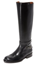 Frye Jordan Strappy Tall Boots Black