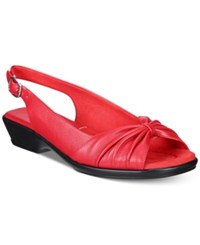 Easy Street Shoes Fantasia Sandals Women's Red