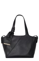 Louise Et Cie Arina Leather Tote Black