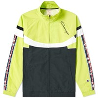 Champion Reverse Weave Taped Colour Block Track Top Green