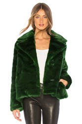 Frame Notched Collar Coat Green