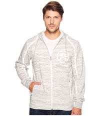 American Fighter Given Sunday Long Sleeve Zip Hoodie Grey Men's Long Sleeve Pullover Gray