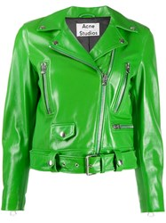 Acne Studios Fitted Biker Jacket Green