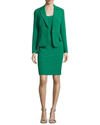 Albert Nipon Structure Dress And Jacket New Emerald