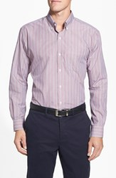 Cutter And Buck Men's 'Epic Easy Care' Classic Fit Wrinkle Resistant Stripe Sport Shirt
