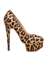 Charlotte Olympia Dolly Calf Hair Platform Heels In Brown Animal Print