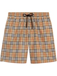 Burberry Vintage Check Drawcord Swim Shorts Nude And Neutrals