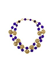 Chanel Vintage Adorned Pearls Layered Necklace Metallic