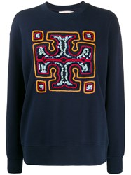 Tory Burch Sequin Embroidered Logo Jumper 60