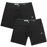 Stance Staple 6 Inch Boxer Brief 2 Pack Black