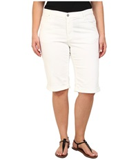 Dkny Plus Size Ludlow Shorts In White White Women's Shorts
