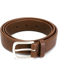 Orciani Buckled Belt Brown