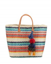 Buji Baja Provence Large Colorblock Tote Bag Neutral