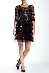 Tracy Reese Sequin And Dot Estella Mesh Dress Black