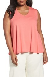 Eileen Fisher Plus Size Women's Jersey Tank Watermelon