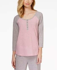 Alfani Colorblocked Henley Pajama Top Only At Macy's
