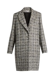 Lanvin Checked Tweed Coat Black Multi