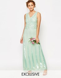 Maya Vintage Embellished Maxi Dress Hint Of Mint Green