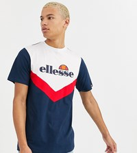Ellesse Tall Albico Chevron Block T Shirt In Navy Exclusive At Asos