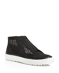 Delman Mesh And Nubuck Sneakers Black