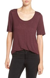 Madewell Women's Slub Knit Scoop Neck Tee Red Rock