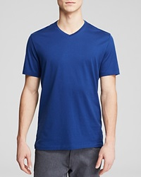 The Men's Store At Bloomingdale's Pima Cotton V Neck Tee Estate Blue