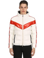 Invicta Hooded Nylon Puffer Jacket White