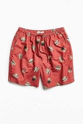 Urban Outfitters Uo Burger And Fries Retro Short Red