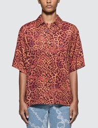 Aries Leopard Chains Hawaiian Shirt Brown