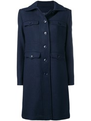 Emporio Armani Four Pocket Coat Blue
