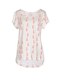 Pieces Topwear T Shirts Women Orange