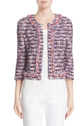 St. John Women's Collection Montserrat Tweed Fringe Jacket