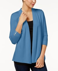 Charter Club Petite Open Front Cardigan Only At Macy's Smokey Sky