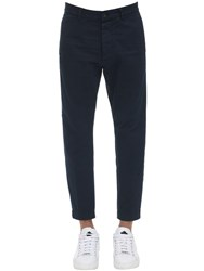 Dsquared 16.5Cm Hockney Fit Cotton Twill Pants Navy