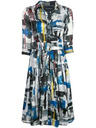 Samantha Sung Audrey Abstract Print Dress Multicolour