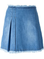 See By Chloe See By Chloe Denim Short Skirt Blue