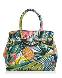 Save My Bag Miss Satchel Tropical Multi Silver