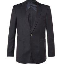Hugo Boss Blue Nordon Slim Fit Birdseye Wool Blazer Navy