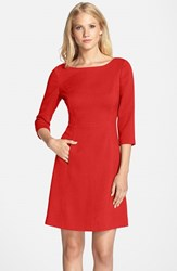 Vince Camuto Women's Crepe A Line Dress Red