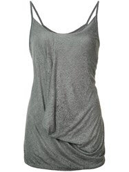 Lost And Found Ria Dunn Draped Top Grey