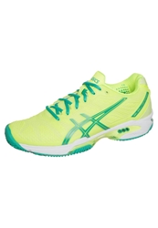 Asics Gelsolution Speed 2 Clay Outdoor Tennis Shoes Flash Yellow Mint Sharp Green Neon Yellow