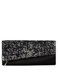 Bcbgmaxazria Sequin Clutch Black Combo