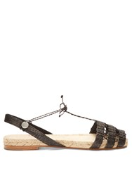 Ball Pages Doble Calada Woven Hemp Espadrilles Black