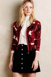 Tracy Reese Scarlett Zipped Cardi Red